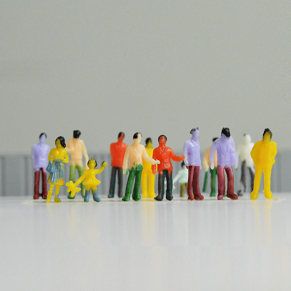 1:100scale model color people for diorama building scenery making 1:150 figure 1:200 tiny 1:300 miniature man