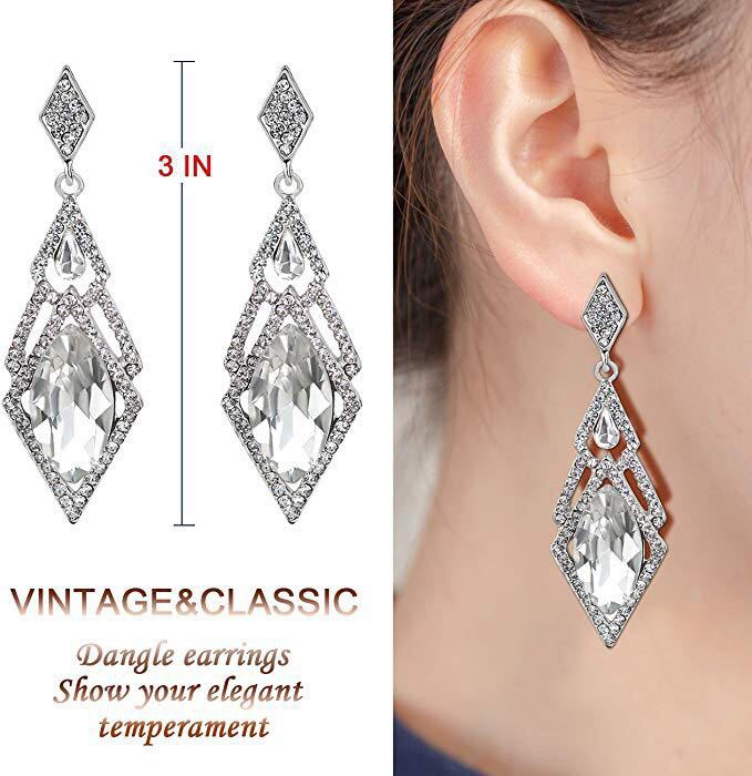 20's Earrings Retro Art Deco Great Earrings Accessories Fairy Tail Cosplay Party Costume Anime Earring 1920s Dress Accessories