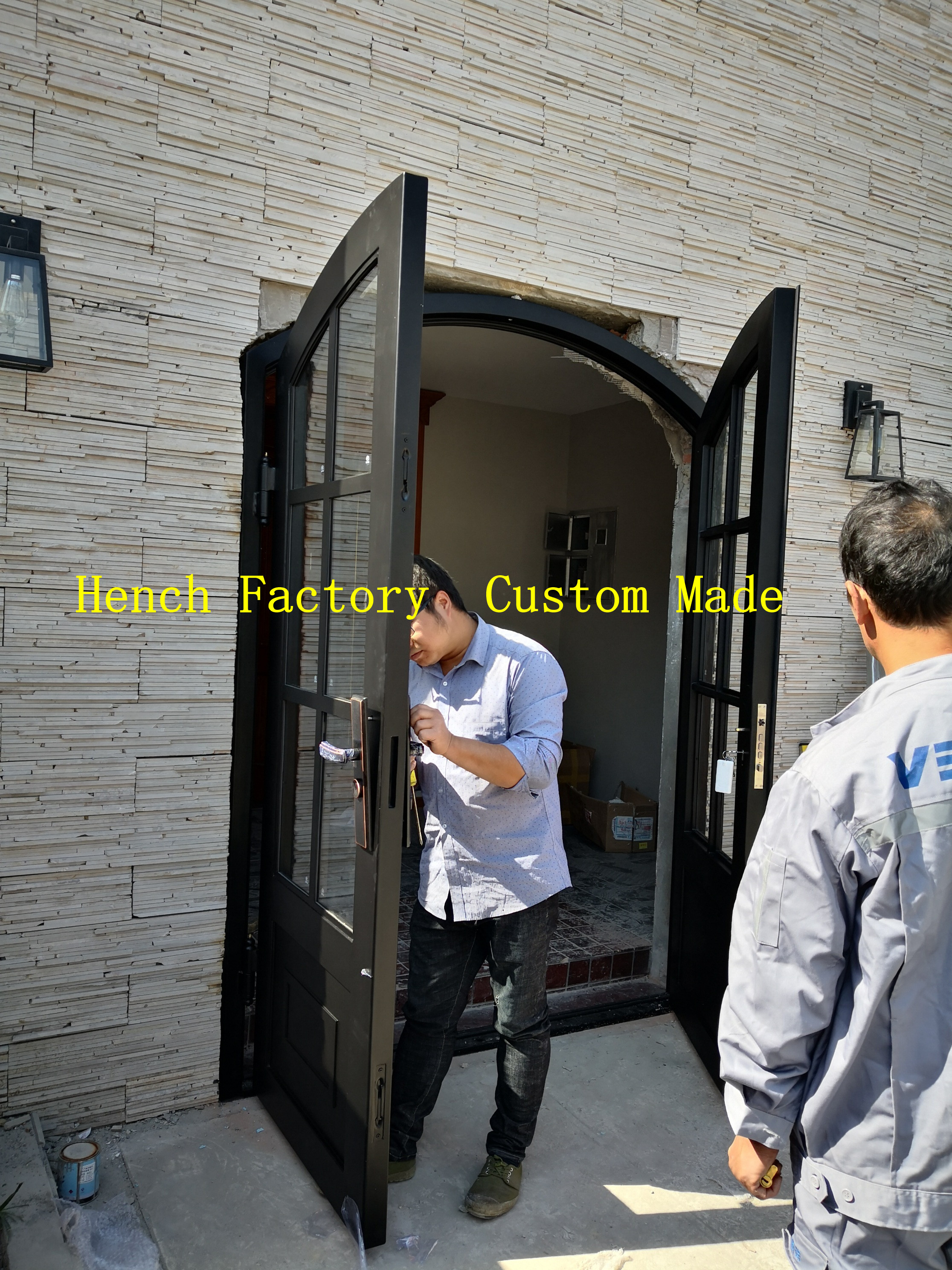 Shanghai Hench Brand China Factory 100% Custom Made Sale Australia Wine Room Doors Wrought Iron