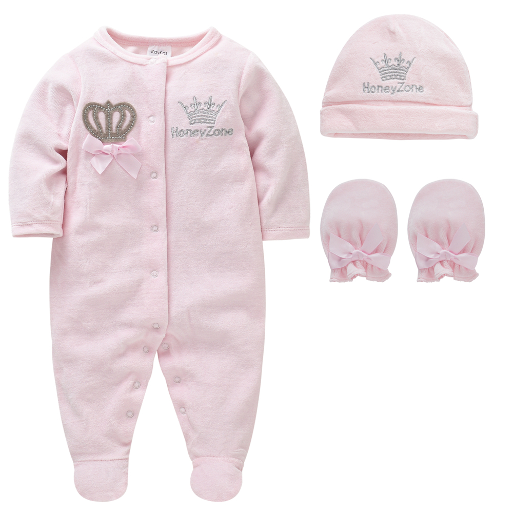 Baby Girl Clothes Set Boy Pijamas bebe fille with Hats Gloves Cotton Breathable Soft ropa bebe Newborn Sleepers Baby Pjiamas