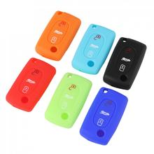 Remote 3 Buttons Key Fob Case Silicone Cover fit for CITROEN C2 C3 C4 C5 C6 Picasso New Arrival