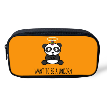 HaoYun Kids Pen Bag Panda Unicorn Pattern Students Stationery Box Cartoon Animal Design School Supplies Pen Bag Girls Beautician girls panda pattern jumper