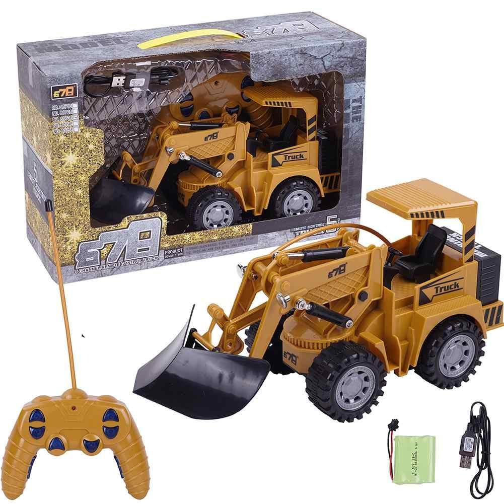 2019 Новый 1/24 RC грузовик 5CH Полный функциональный RC пульт дистанционного управления снег яснее погрузчик Инженерная Строительная игрушка автомобиль для детей подарок