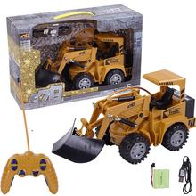2019 NEW 1/24 RC Truck 5CH Full Functional RC Remote Control Snow Clearer Loader  Engineering Construction Toy Car For Kids Gift remote control tipper rc toy truck dumpers engineering vehicles metal multi function chargeable car gift for kids toy car
