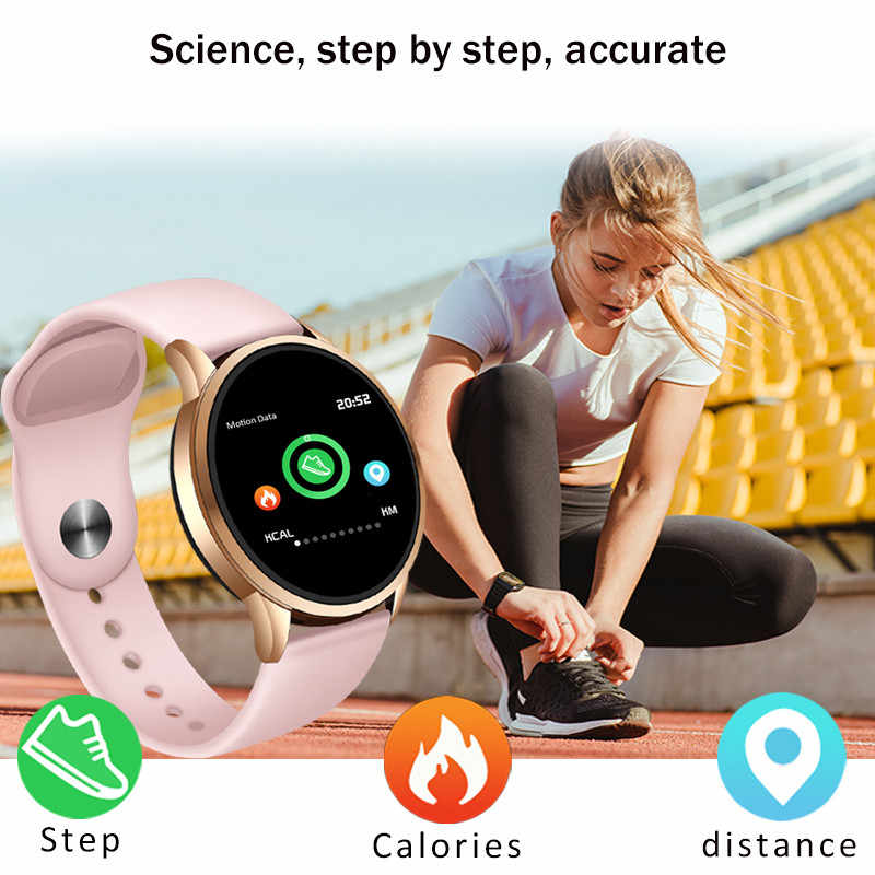LIGE フィットネストラッカースマート腕時計レディースメンズスポーツ Ios の Android 携帯スマートウォッチ心拍数モニター血圧機能