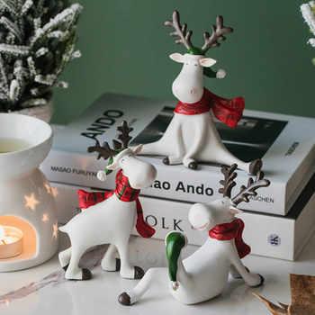 Holz Weihnachten Ornamente Kreative Nordic Hause Handwerk Ornamente Wohnzimmer Eingerichtet Dekoration Haus Dekoration OO50BJ