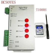 LED T1000S 128 karty SD pikseli kontroler, DC5 ~ 24V, dla WS2801 WS2811 WS2812B LPD6803 LED 2048 taśmy światła lampy