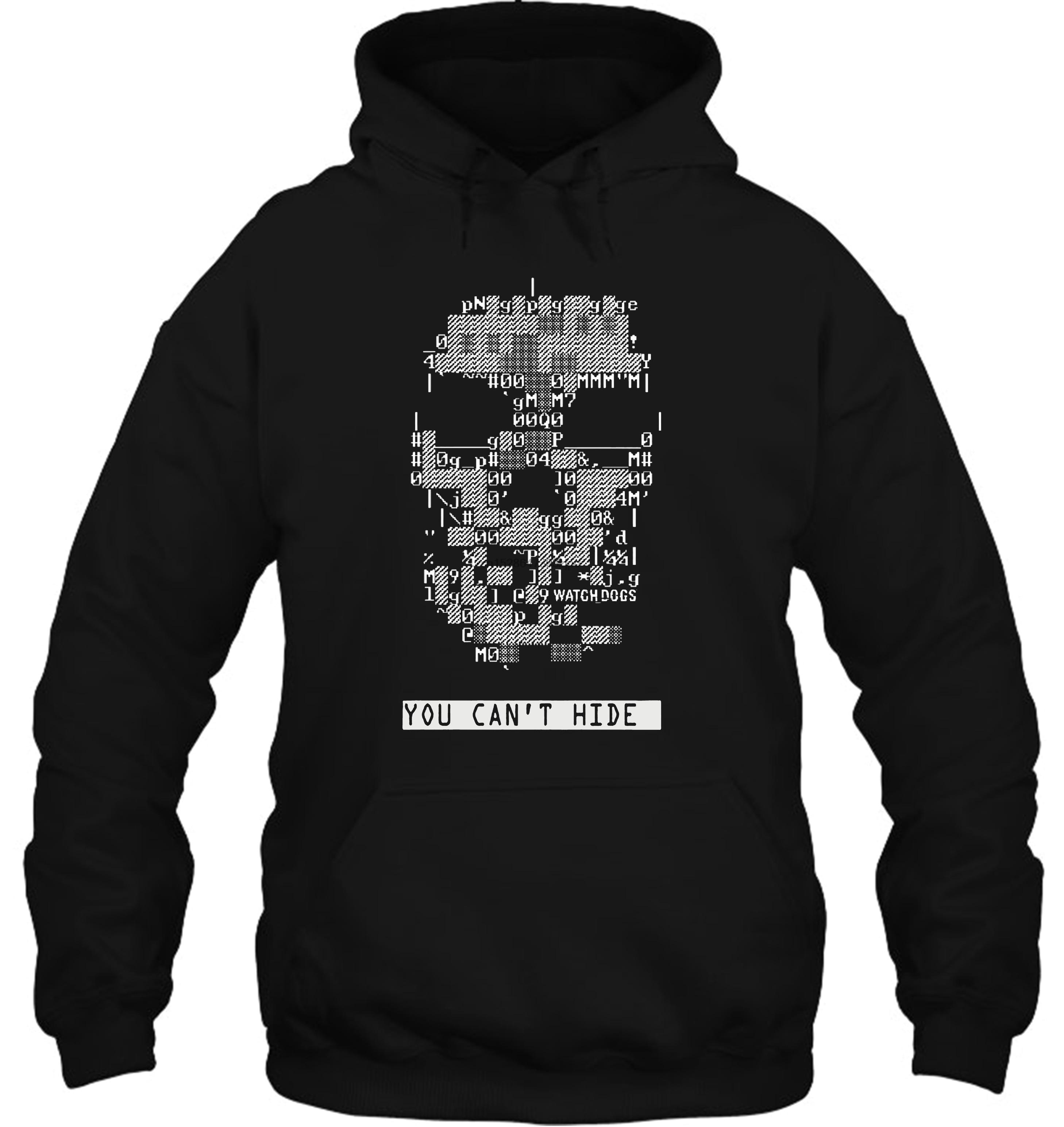 Funny White Black Tee Hot WATCH DOGS Dedsec Skull Extra Extra Men's Black Streetwear Men Women Hoodies Sweatshirts