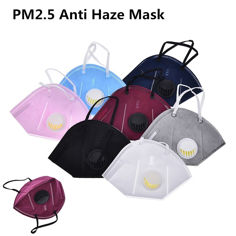 1pc Pm2.5 Anti Haze Mask Anti-dust Mouth Mask Activated Carbon Filter Respirator