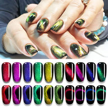 5 Ml 9D Galaxy Magnetic Gel Nail Polish Tahan Lama Bersinar Chameleon Cat Eye Nail Art Gel Rendam Off UV LED Gel Varnish ZJJ3072(China)