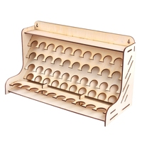 ABSS-50 Hole Wooden Pigment Bottles Storage Organizer Color Paints Stand Rack Holder Drawing Storage Tool