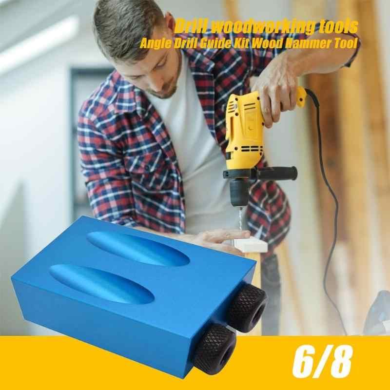 14/15 Buah/Set Mini Kreg Berjoget Gaya Lubang Saku Kit Sistem Bengkel Tukang Kayu Langkah Bor Bit Aksesoris Kayu Alat Kerja set untuk Woodworking