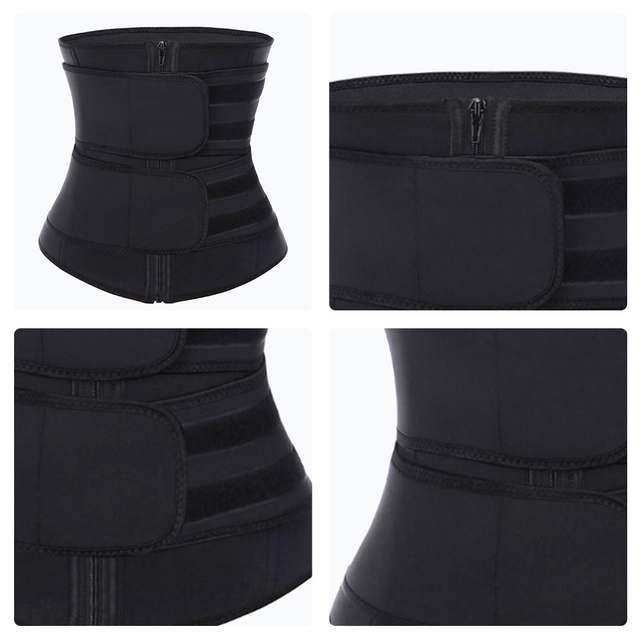 2020 New Fitness Waist Trainer Corset Sweat Belt for Women Weight Loss Compression Trimmer Workout Body Shaper Fitness S-3XL 1