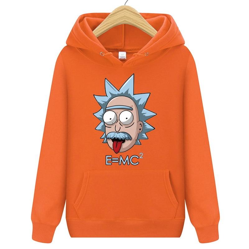 Fashion brand Hip Hop Men Hoodies casual Men Rick Morty hooded Funny printing Hoodies Sweatshirt Male Rick Morty Hoody Jackets