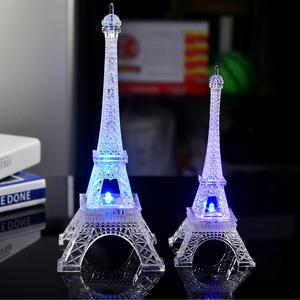 S/M/L Romantic France Mini Eiffels Tower LED Color Changing Night Light Home Bedroom Party Lamp Decor Home Decor Christmas Gifts