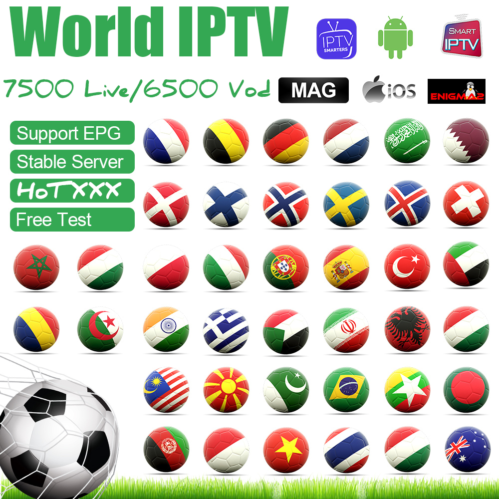 Italy Iptv Smart Tv Box Subscription Portugal UK Germany Belgium France Spain Netherland Sweden For M3U Enigma 2 Android TV EPG