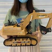 1/18 Rc Car Control escavatore remoto 2.4G radiocomandato auto Caterpillar trattore modello ingegneria costruzione di edifici giocattoli