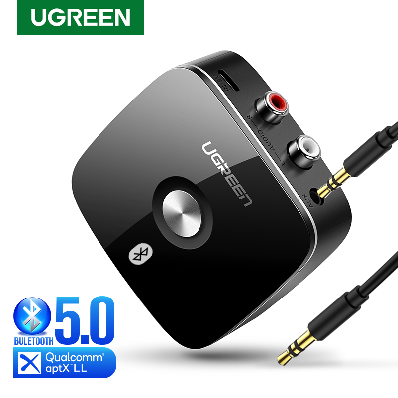 Ugreen Bluetooth RCA приемник 5,0 aptX LL 3,5 мм разъем Aux беспроводной адаптер Музыка для ТВ автомобиля RCA Bluetooth 5,0 3,5 аудио приемник