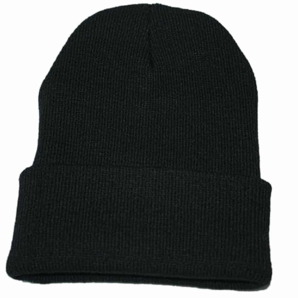 Осенне-зимняя одежда из шерсти смеси мягкий теплый вязаный Кепки Повседневное Chapeau унисекс сапоги высотой выше колена Вязание шапка в стиле хип-хоп кепка, теплая зимняя Лыжная шапка# Y5 - Цвет: Черный