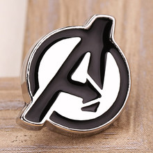 The Avengers Logo Huruf Lencana Bros Marvel Super Hero Enamel Pin Lencana Bros Mantel Ransel Label Hadiah Perhiasan Penggemar(China)