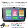 Lecteur multimédia de voiture Android 9.0 GPS 2 Din pour VW/Golf/Tiguan/Skoda/Fabia/Rapid/Seat/Leon Canbus Automotivo NODVD Radio DSP CAM