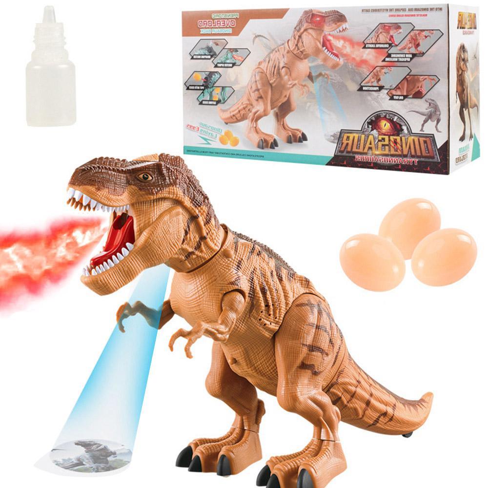 Dinosaure électrique tyrannosaure Rex Animal électronique marche pondre oeufs animaux jouet musique lumière Spray jouets pour enfants cadeaux