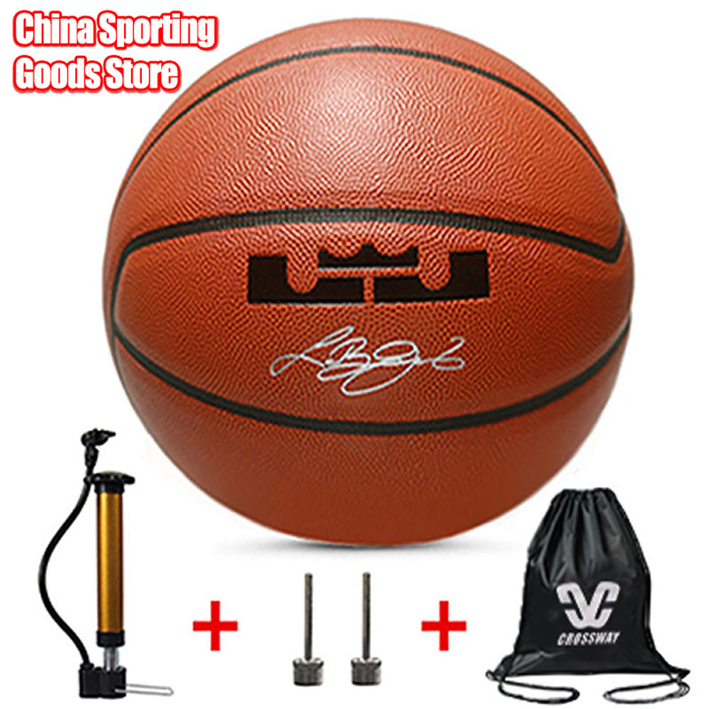 Standard Basketball, Outdoor Wear-resistant Pu Basketball, Children's Basketball Training, Air Pump + Air Needle + Bag