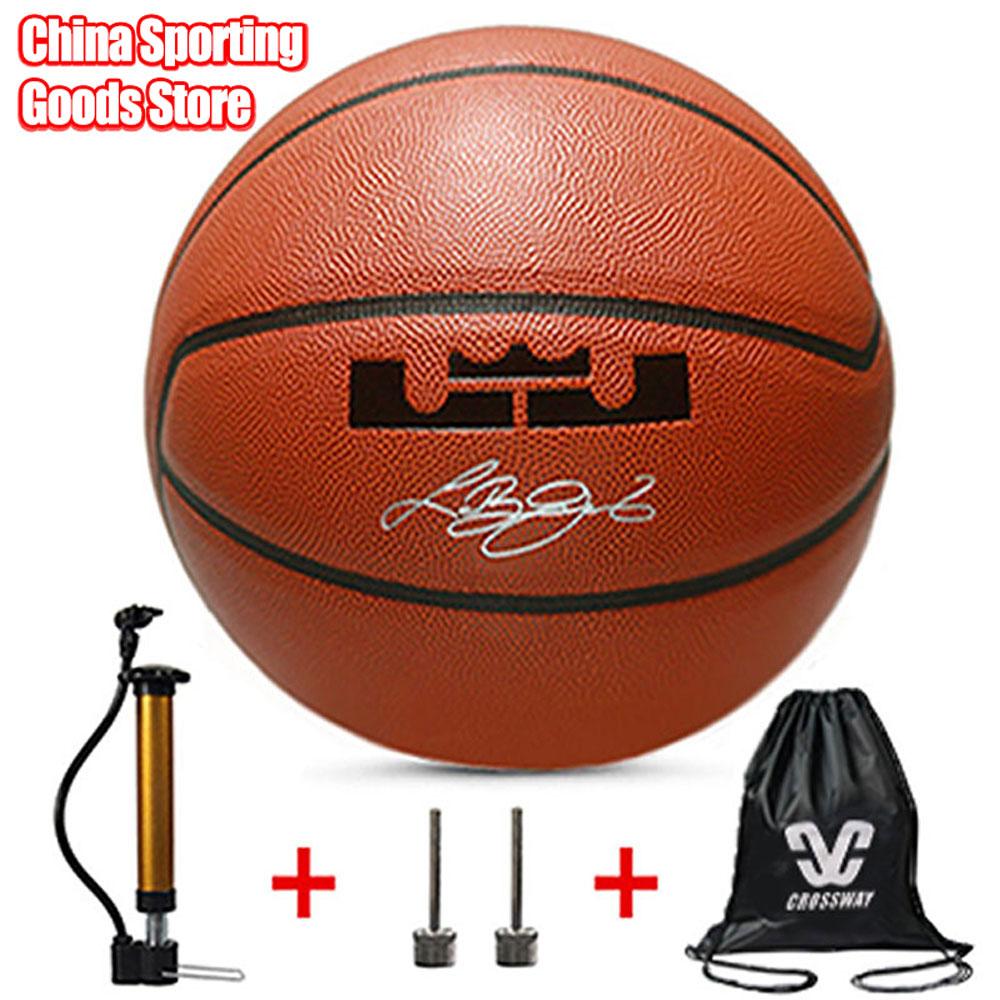 Standard Basketball, Outdoor Wear-resistant Pu Basketball, Children's Basketball Training, Air Pump + Air Needle + Bag