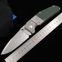 JUFULE Limit 7505 Titanium G10 handle D2 Mark M390 Blade folding Pocket Survival EDC Tool Utility outdoor camping hunting knife