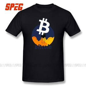 100% Cotton Tee Rocket to The Moon Cryptocurrency Bitcoin Edition Amazing Short Sleeves T Shirts Mens T-Shirts Round Neck(China)