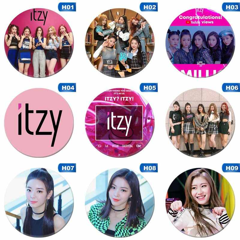 New Fashion KPOP Korean ITZY Mini Album IT'z Round Badge Pins And Brooches For Clothes Hat Backpack