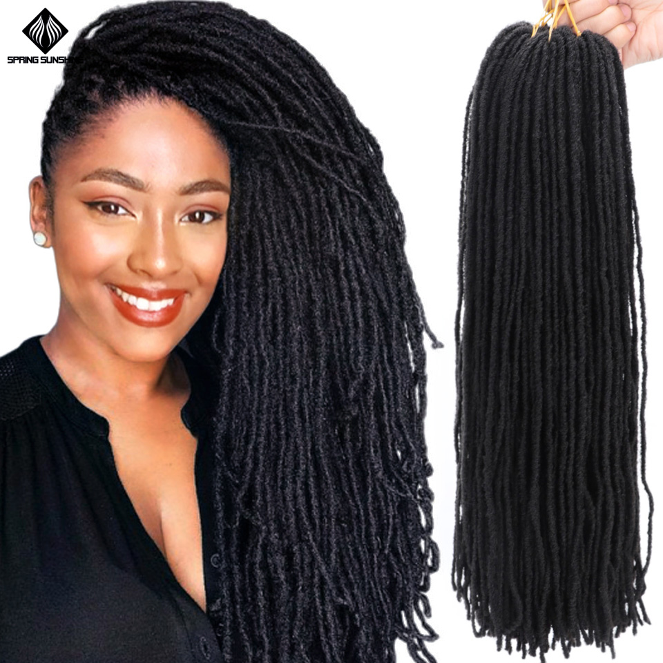 Soft Deadlocks Sister Locks Afro Crochet Braids Ombre Color 18 Inch Blonde Brown Bug Synthetic Hair For Women Locs Crochet Hair