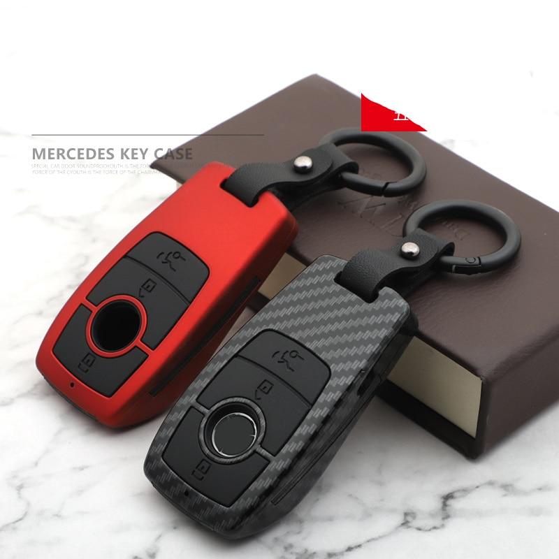 من ألياف الكربون ABS هلام السيليكا حافظة مفاتيح السيارة غطاء لمرسيدس بنز ECS الفئة W203 W204 W212 W213 W176 C180 CLS CLK CLA SLK GLC GLA