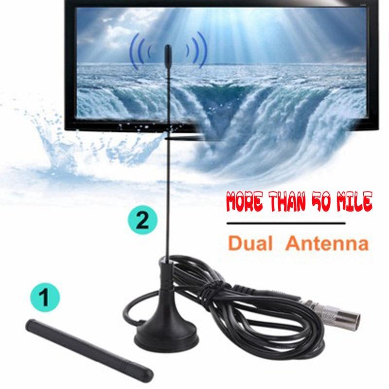 Indoor TV Antenna Digital HDTV High Gain 25dB Portable DVB-T Freeview Antenna HQClear TV HD DVB-T2 Radio Aerial TDT TV Receptor