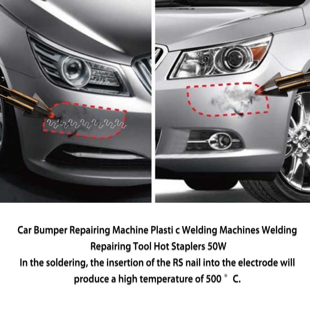 Araba tampon tamir makinesi sıcak zımba plastik tamir sistemi kaynak tabancası tampon Fairing otomatik vücut aracı plastik kaynakçı elyaf 50W