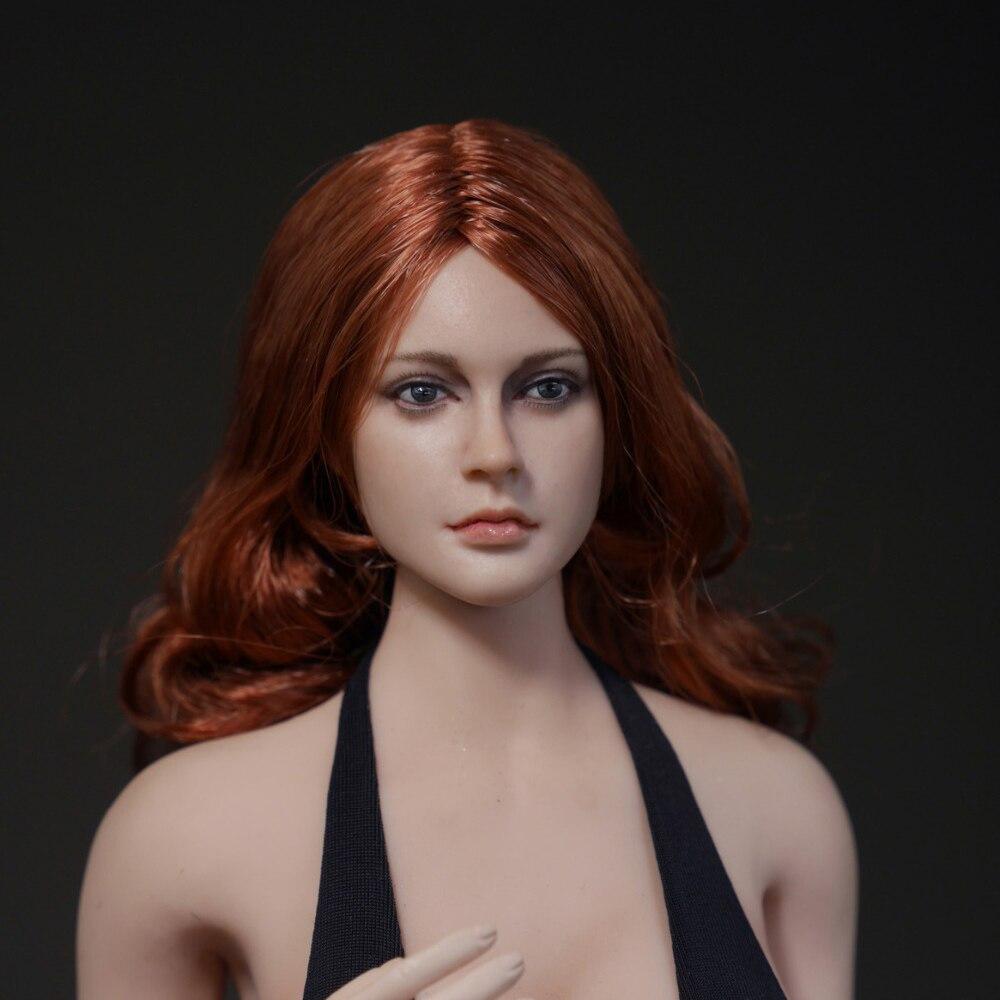 1:6 Scale  female curls  pale skin Head  Sculpt  F Phicen Tbleague   figure