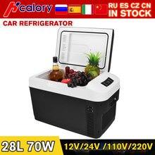 28l casa/uso do carro geladeira 12v/24v 110v/220v ultra silencioso carro refrigeradores freezer refrigeração caixa de aquecimento geladeira pesca acampamento