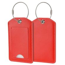 Fashion PU Leather Luggage Tags Travel Accessories Suitcase ID Address Holder Baggage Boarding Tag Portable Label(China)