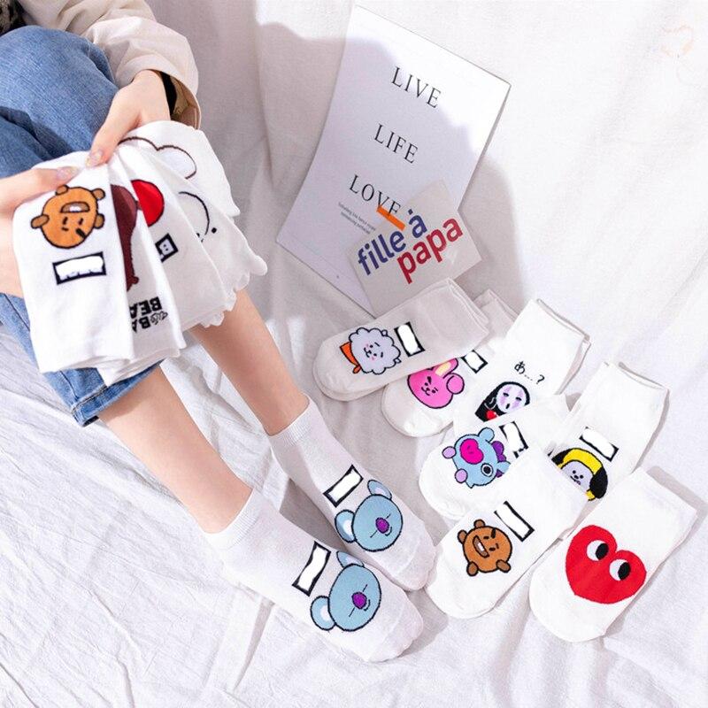 2021 Woman Socks Cartoon Anime Socks Cotton Korean Ship Socks Fun Funny Creative Series sock women Dropshipping