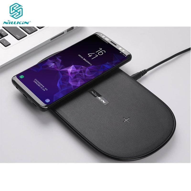 Chargeur sans fil rapide Qi 2 en 1 Nillkin pour Samsung Galaxy S8 S9 Plus Note 8 pour Iphone 8 8 Plus X Xs Max chargeur sans fil