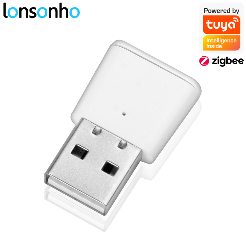 Lonsonho Tuya Zigbee Signal Repeater USB Zigbee Hub Signal Expand 20-30M Smart Home Automation Module 1