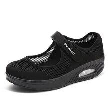 Женская обувь осенние кроссовки обувь для мам Женская легкая спортивная обувь из сетчатого материала Женская Повседневная Удобная Обувь 699