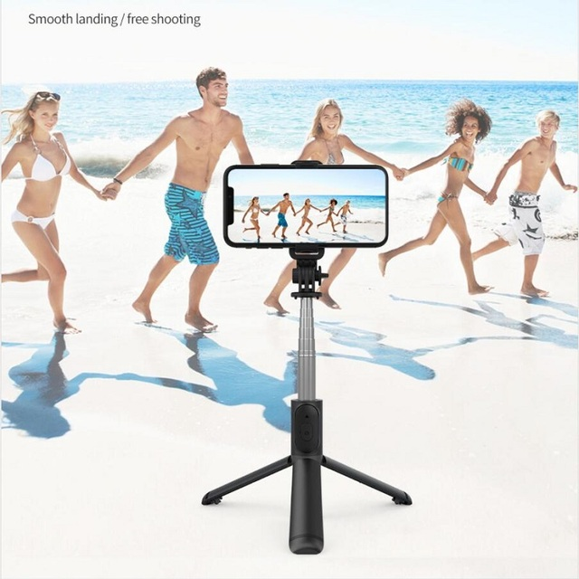 Roreta 2021 NEW 4 in 1 Wireless Bluetooth Selfie Stick With Tripod Foldable monopods universal for Smartphone Hot 3