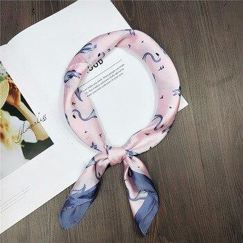 70*70cm  Fashion Women Scarf Emulation silk hijab scarf small female spring and autumn summer Professional towel
