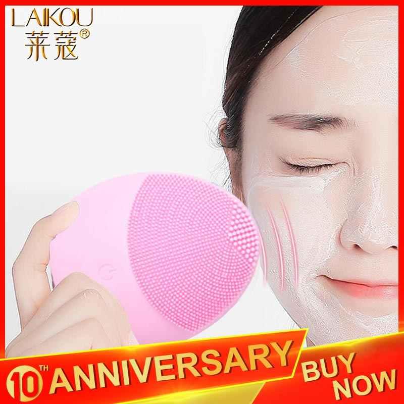 Laikou Siliconen Gezicht Reinigen Borstel Elektrische Gezicht Cleanser Elektrische Gezichtsreiniger Reiniging Huid Diepe Wassen Massage Borstel