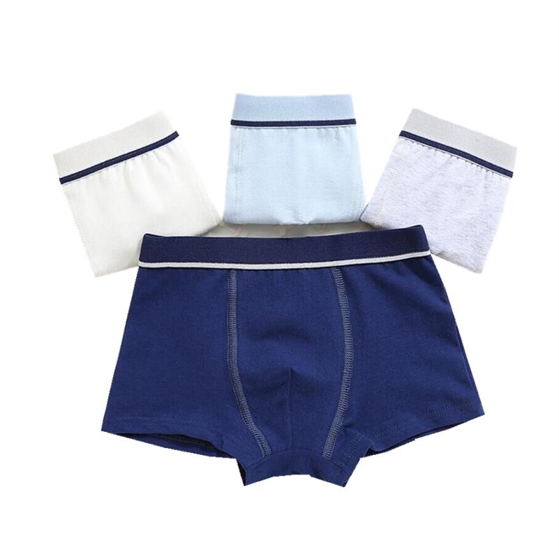 2Pc/lot Boys Pure Cotton Soft Boxers Underpants Baby Cute Kids Underwear Short Pant 2-10Y 1