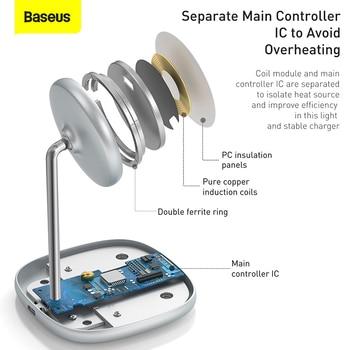 Магнитная беспроводная зарядная подставка Baseus 15 Вт 5