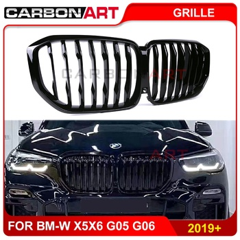 Front grille for bmw X5 G05 2019 2020 glossy black X6 G06 car styling racing grills new x5 x6 auto parts