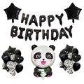 1st детская День рождения украшения панда шар для вечеринки комплект панда дорожного движения «панда» для дня рождения воздушные шары фон дл...