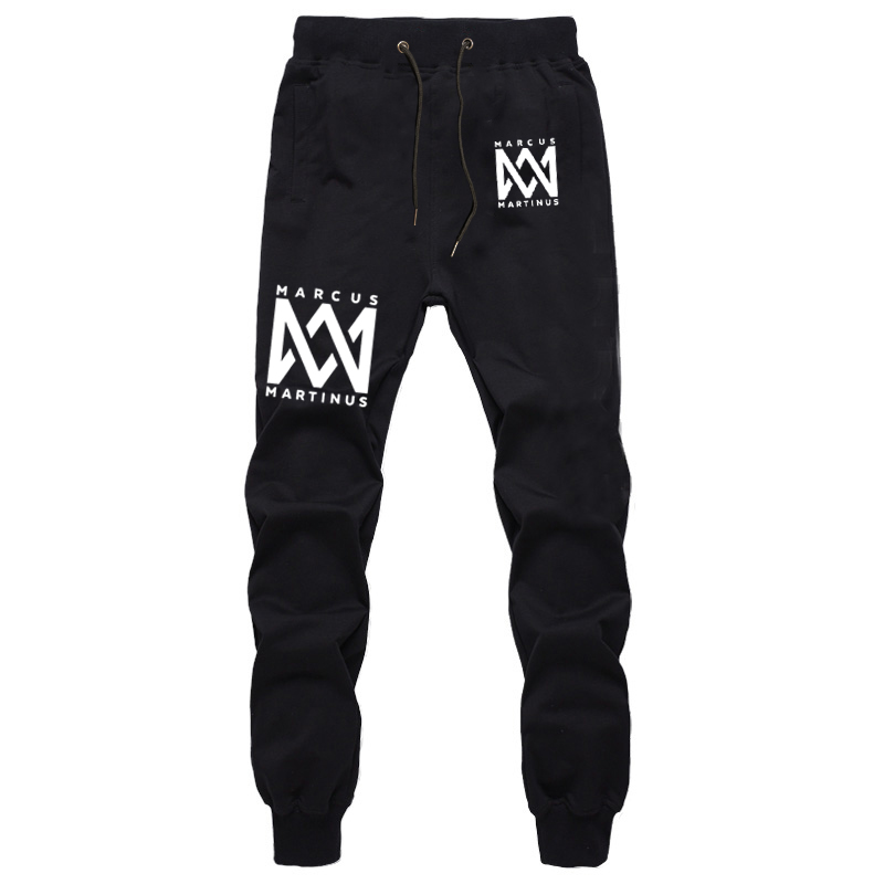 Fashion Marcus&martinus Trousers Cotton Casual Sports Trousers Spring Autumn Unisex Long Pants Men's Trousers Full Length New